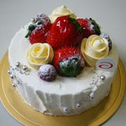 ケーキの赤い風船