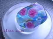 glass aqua とんぼ玉とニャンコ大好き