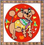 愛犬モコちゃんと共に