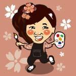 marikoの似顔絵描き描き