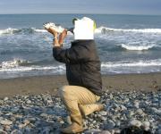 休日は海でロッドを連続フルキャスト