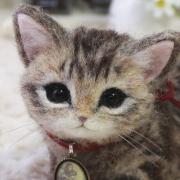 + cherisa +の羊毛フェルト猫