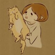 富之小路さんと猫