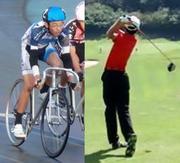 ゴルフと自転車競技