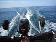 大海原の小さなボート