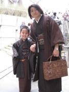 息子と私の着物あそび