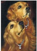 ペットと飼い主さんの肖像画・動物油絵エリコアート