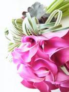 Eucharis ウェディングブーケとパリスタイルの花
