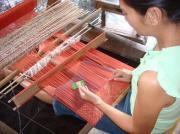 バリ島田舎暮らし 手織りの布ソンケット