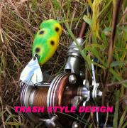 カエルと釣り人