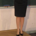 女教師授業中
