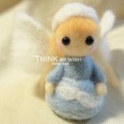 THINK AS WISH naoの羊毛フェルトの天使作り