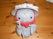 手作りの人形とひだまり