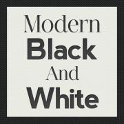 Modern black and white