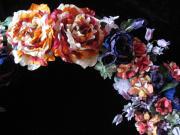アンティーク着物地からの布花