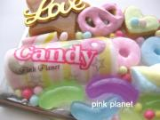 pink planet *+sweets deco/handmade+*