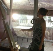 女流画家の一日