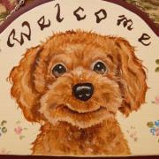 犬・猫・ペットの似顔絵プレート・トールペイント雑貨