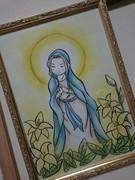 茨城県古河市☆パステルアート六花・和アート・天使