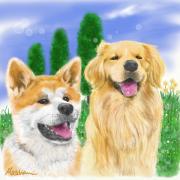 関西のゴールデンのち秋田犬ブログ