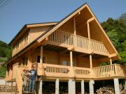 瀬戸内海が見えるログハウスと薪ストーブのある暮らし