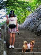 愛犬とヘルパー女装
