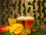 新大久保駅前のK-POPとマンゴ‐専門カフェー