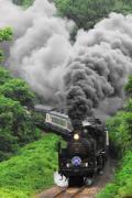 会津の自然と汽車