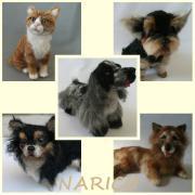 naricoと羊毛フェルト☆のんびり犬