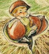 色鉛筆で童画描いてみました
