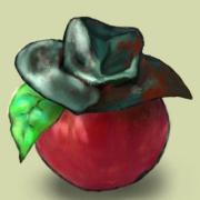 リンゴについた虫
