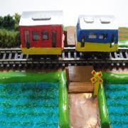 かわいい 鉄道模型ジオラマ Zゲージ