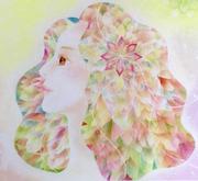 万華鏡の光と花のパステルアート福岡
