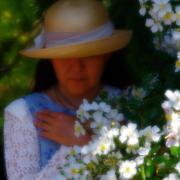 po*me's small white garden