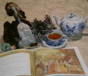 絵本とお茶のある風景