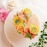 atelierAアイシングクッキー、餡フラワーケーキ