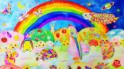 虹色で描く不思議な世界〜透明水彩イラスト