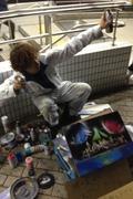 Sunnyのスプレーアートで日本巡業絵描き絵巻