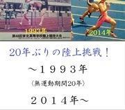 40歳〜のマスターズ陸上100m