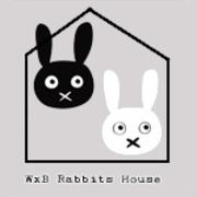 白黒ウサギ小屋