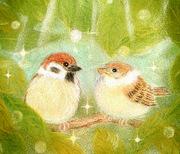 おりこう雀と自然の天使