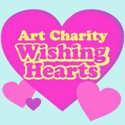 Art Charity Wishing Hearts