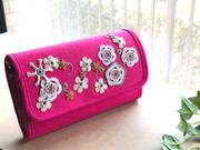 花柄オヤ刺繍のバッグとお財布 87toiro