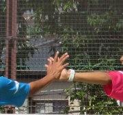 ソフトテニス 二人で一本