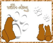 ◦=◕ with dog ◕=◦