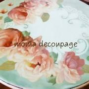 文京区デコパージュ教室 moma decoupage by Yumi