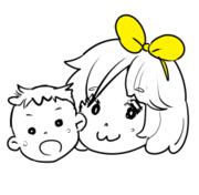 1歳の子供とひなたぼっこ