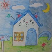 Blue Cat工房**あお**のお絵描きキャンバスー月ー