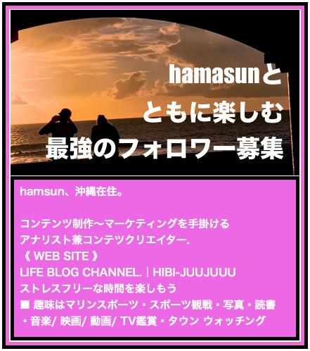 hamasunさんのプロフィール