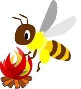 働き蜂の外遊び
